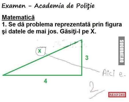Examen la Academia de Politie