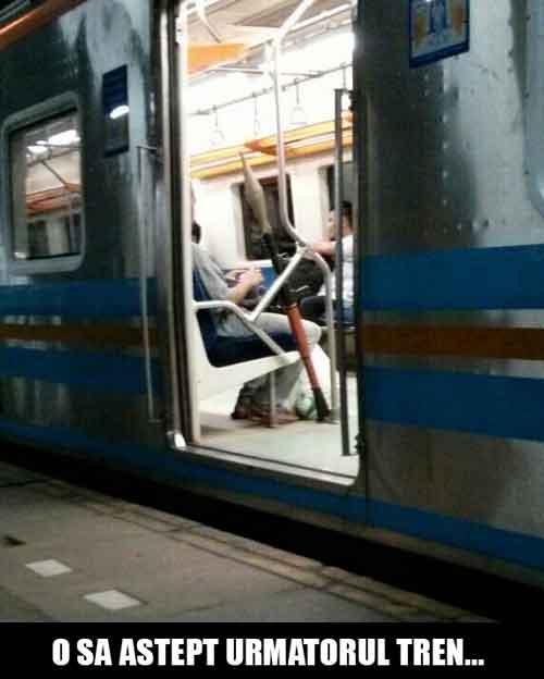 O sa astept urmatorul tren...