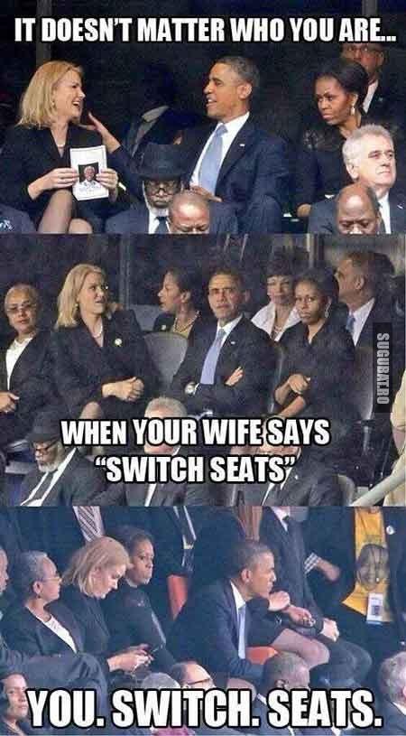 Nu conteaza cine esti, cand sotia iti spune sa schimbi locurile - SCHIMBI LOCURILE!