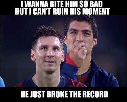 Suarez l-ar musca pe Messi